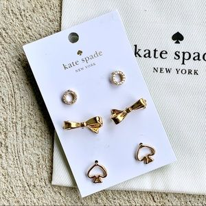 Kate Spade Gold Stud Earrings NWT
